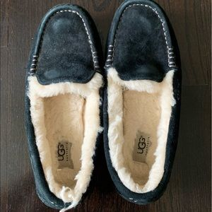 Black UGG Moccasin Slippers